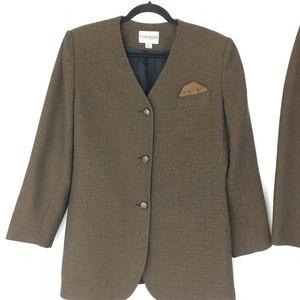 Vintage John Meyer Brown and Black Tweed Suit Set